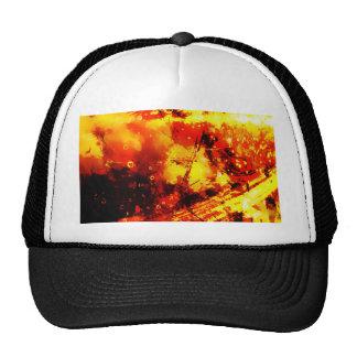 Golden Light Abstract Radial Design Style Royal Ri Trucker Hat