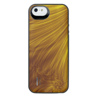 Golden Light Fractal iPhone SE/5/5s Battery Case