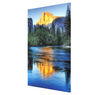 Golden Light on Half Dome Stretched Canvas Prints