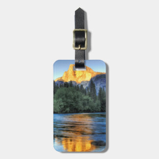 Golden Light on Half Dome Tags For Luggage