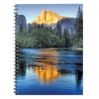 Golden Light on Half Dome Notebook