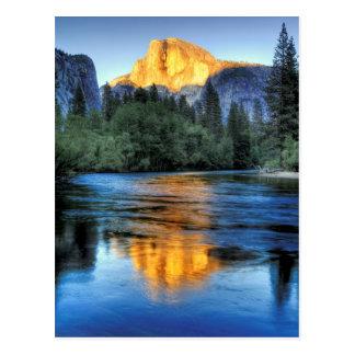 Golden Light on Half Dome Postcard