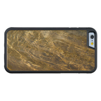 Golden Light on Water Abstract Carved Maple iPhone 6 Bumper Case