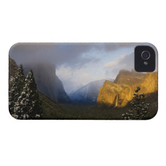 Golden light paints Yosemite Valley's Bridalveil iPhone 4 Case