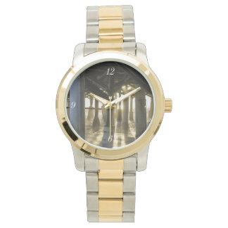 Golden Light Shines Through Wristwatch