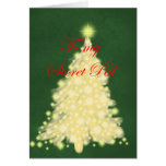 Golden Lighted tree Cards