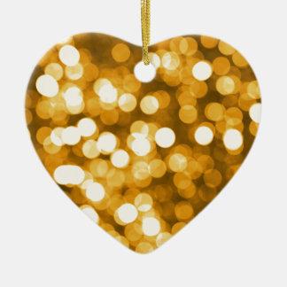 Golden lights ceramic ornament