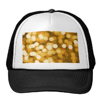 Golden lights trucker hat