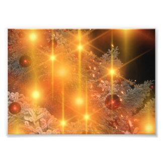 Golden Lights Holiday Christmas Tree Decorations Photo Print
