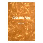 """Golden Lights - Invitation 3.5"""" X 5"""" Invitation Card"""