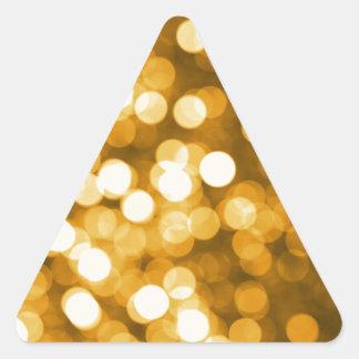 Golden lights triangle sticker