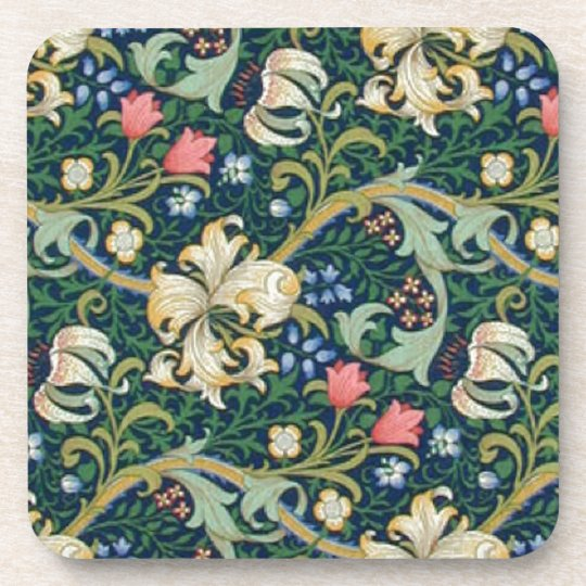 Golden Lilies Coaster Set