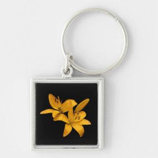 Golden Lilies Keychain