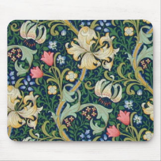 Golden Lilies Mouse Pad