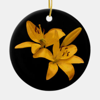 Golden Lilies Christmas Ornament