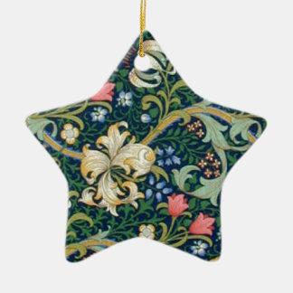 Golden Lilies Star Ornament