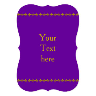 Golden Lily Border + your text & backgr. Card