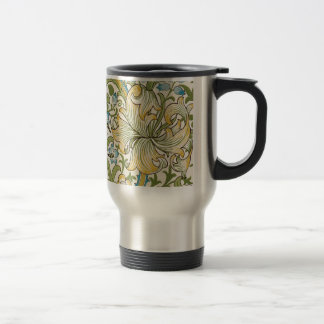 Golden Lily by William Morris 15 Oz Stainless Steel Travel Mug