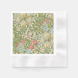 Golden Lily By William Morris Disposable Napkin
