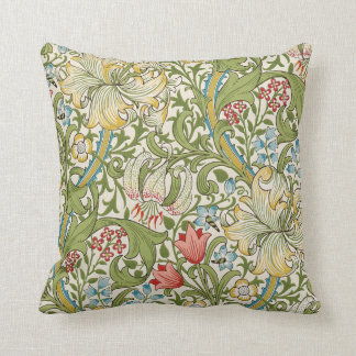 Golden Lily by William Morris Throw Pillow