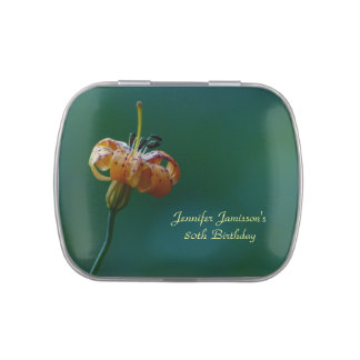 Golden Lily Candy Tin Party Favor 80th Birthday