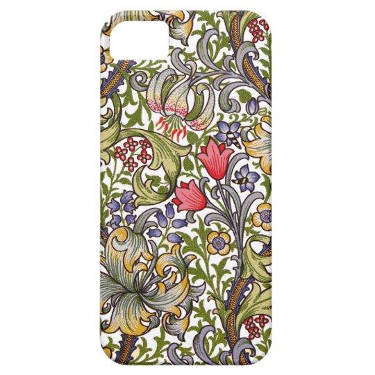 Golden Lily Vintage Floral Pattern William Morris iPhone SE/5/5s Case