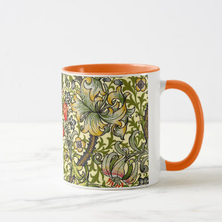Golden Lily Vintage William Morris Mug