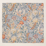 """Golden Lily, William Morris Scarf<br><div class=""""desc"""">William Morris (24 March 1834 – 3 October 1896) was a British textile designer, poet, novelist, translator, and socialist activist associated with the British Arts and Crafts Movement. He was a major contributor to the revival of traditional British textile arts and methods of production. His literary contributions helped to establish...</div>"""