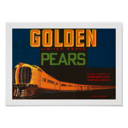 Golden Limited Brand Pears Poster