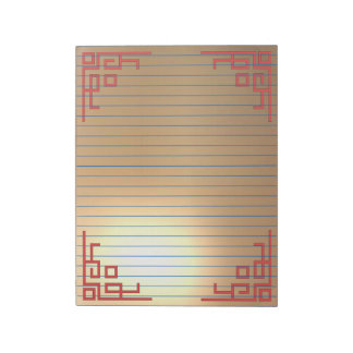 Golden lined large notepad