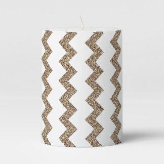 golden lines pillar candle