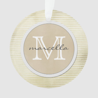 golden lines Stripes Background Monogram Ornament
