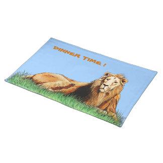 golden lion animal placemat