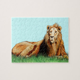 golden lion animal puzzles