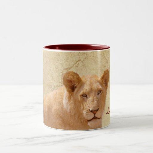 Golden Lion Cub Wildlife Art Coffee Mug