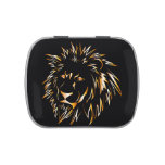 Golden lion jelly belly tin