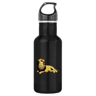 Golden Lion Lying Down Water Bottle