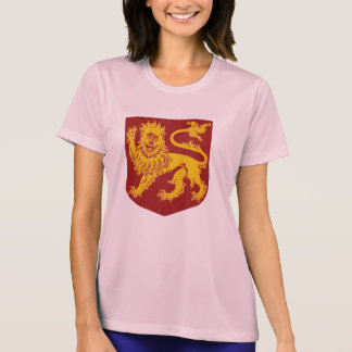 Golden Lion on Red Shield Heraldry Tee Shirts