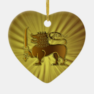 Golden Lion Sri Lanka ornament
