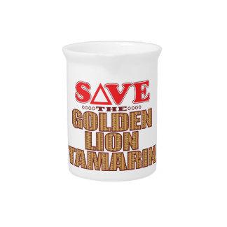 Golden Lion Tamarin Save Beverage Pitcher