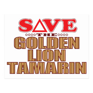 Golden Lion Tamarin Save Postcard