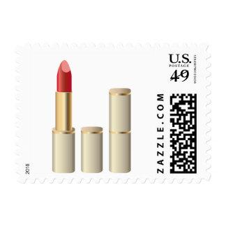 Golden Lipstick Makeup Gal Stamp
