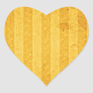 Golden lists and aged heart sticker