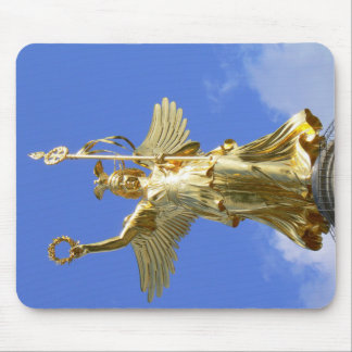 """Golden Lizzy"", Siegessäule, Berlin Mouse Pad"