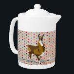 "Golden LLama Pokadot Teapot<br><div class=""desc"">Designed by Nicole King &#169;2012</div>"
