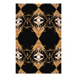 Golden Locks Kaleidoscope Mandala Custom Flyer