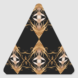 Golden Locks Kaleidoscope Mandala Triangle Sticker