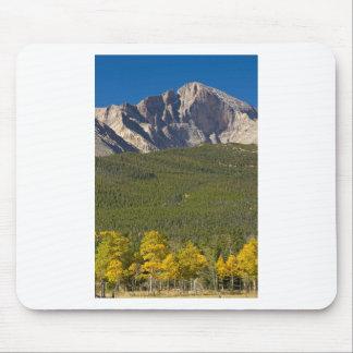 Golden Longs Peak View Mouse Pad