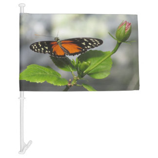 Golden Longwing Butterfly Car Flag