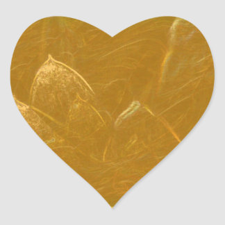 GOLDEN LOTUS2 HEART STICKER